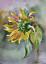 "Indexbild 1 - Aquarell Gemälde ""Sonnenblume ""Sunflower"" 20x27 cm watercolor paintings original"