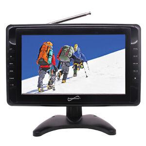 "Supersonic SC-2810 10"" Portable Digital Widescreen LCD TV USB SC/MMC NEW"