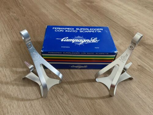 Campagnolo Super Record Toe Clips Light Alloy Superleggeri Bicycle NOS BRAND NEW