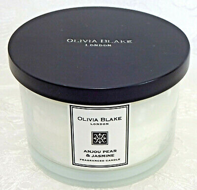 Olivia Blake Anjou Pear /& Jasmine 3wick Candle