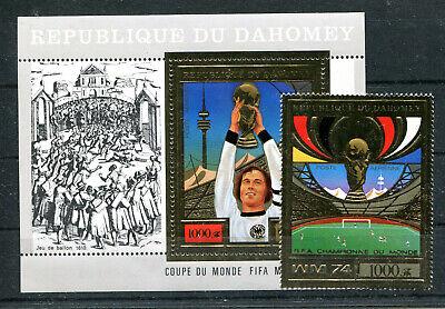 Angemessen Dahomey 610 Block 55 Postfrisch Sport & Spiel Fussball................................2/3835 Einen Einzigartigen Nationalen Stil Haben Briefmarken