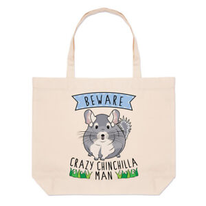 Shoulder Funny Chinchilla Man Crazy Beach Beware Bag Large Tote Animal 1qgzwx6
