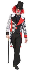 Pierrot Kostum Herren Narren Schwarz Weiss Rot Frack Fasching