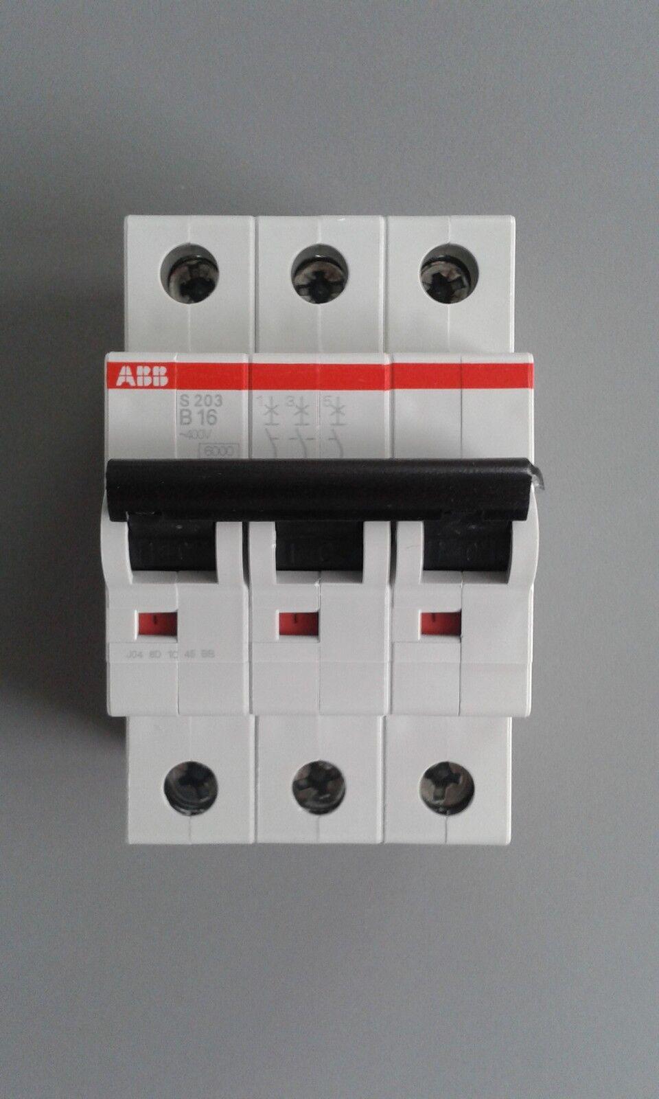 ABB S203 B oder C - LS-Schalter-Sicherungsautomat-Leitungsschutzschalter-3 POLIG | Schön In Der Farbe