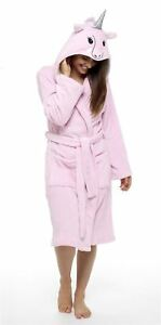 201a61eac6c8f Image is loading Women-039-s-Unicorn-Hooded-Robe-Super-Soft-