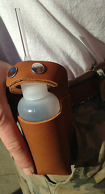 SNUFFER sniffer BOTTLE with Quality LEATHER HOLSTER for use while using gold pan