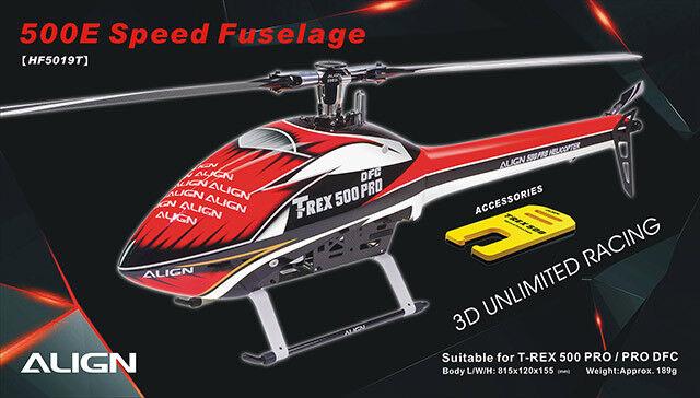 HF5019 - 500E Speed Fuselage - HF5019  rojo  & blanco 0ac795