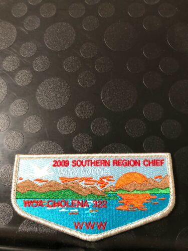 OA WOA CHOLENA LODGE 322 2009 SOUTHERN REGION CHIEF SMY//BRD FLAP