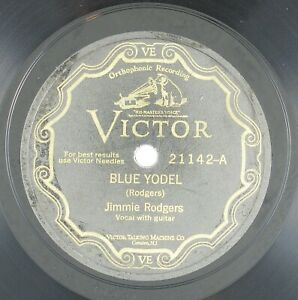 JIMMIE-RODGERS-Blue-Yodel-Away-Out-On-The-Mountain-10IN-COUNTRY-VG-LISTEN