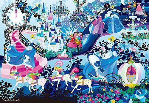 1000 piece jigsaw puzzle Pure White  Brilliant colors (Cinderella) (51x73.5cm)