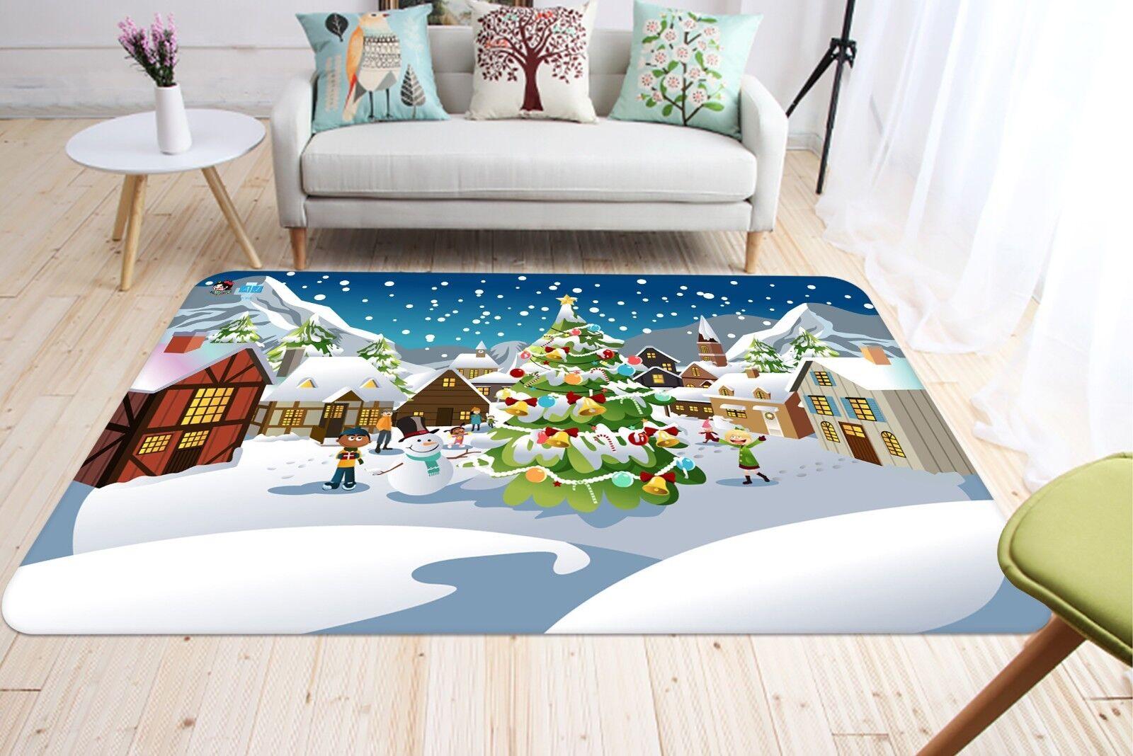 3D Navidad Navidad 582 Alfombra Colchoneta Antideslizante Alfombra De Sala Elegante De Calidad Foto Alfombra
