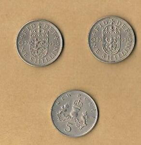 QUEEN-ELIZABETH-II-ENGLISH-AND-SCOTTISH-SHILLINGS-1953-1968-CHOOSE-DATE