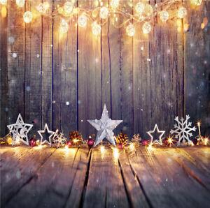 Vinyl Studio Backdrops Photography Props Vintage Christmas Decor Star Light Wall Ebay