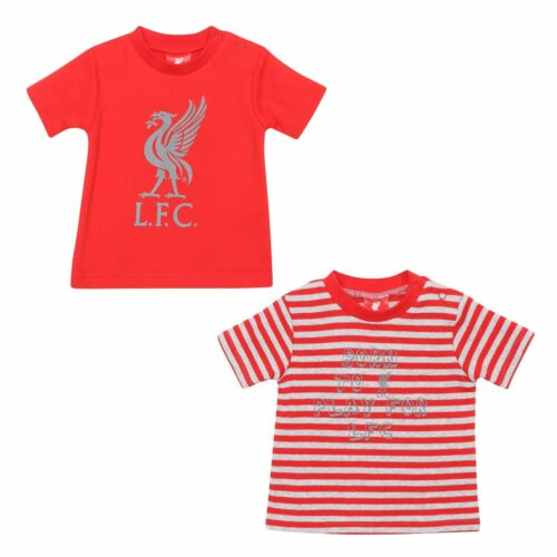 Liverpool FC Baby 2-Pack T-Shirts Red//Grey LFC Official