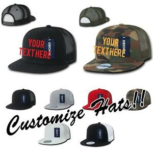 1da1fca33 Details about CUSTOM EMBROIDERY Personalized Customized Decky Mesh Trucker  Snapback Cap 1052