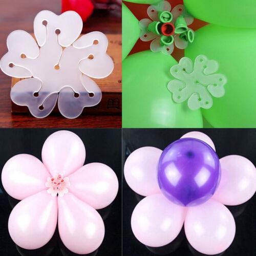 10x 6.5cm Seal Clip Balloon Accessory Plum Flower Sealing Clamp Plastic Buckle