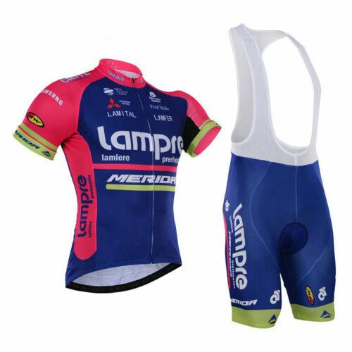 KJX5525 Mens Riding Quick Dry Clothing Cycling Short Sleeve Jersey Bib Shorts