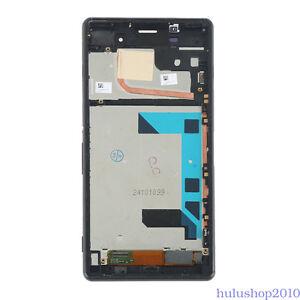 Display-Fuer-Sony-Xperia-Z3-D6603-D6643-LCD-Touchscreen-Rahmen-Schwarz-Black