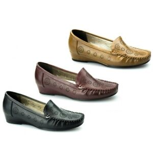 458069718a5 Image is loading Comfort-Plus-AVELINE-Ladies-Womens-Faux-Leather-Wide-