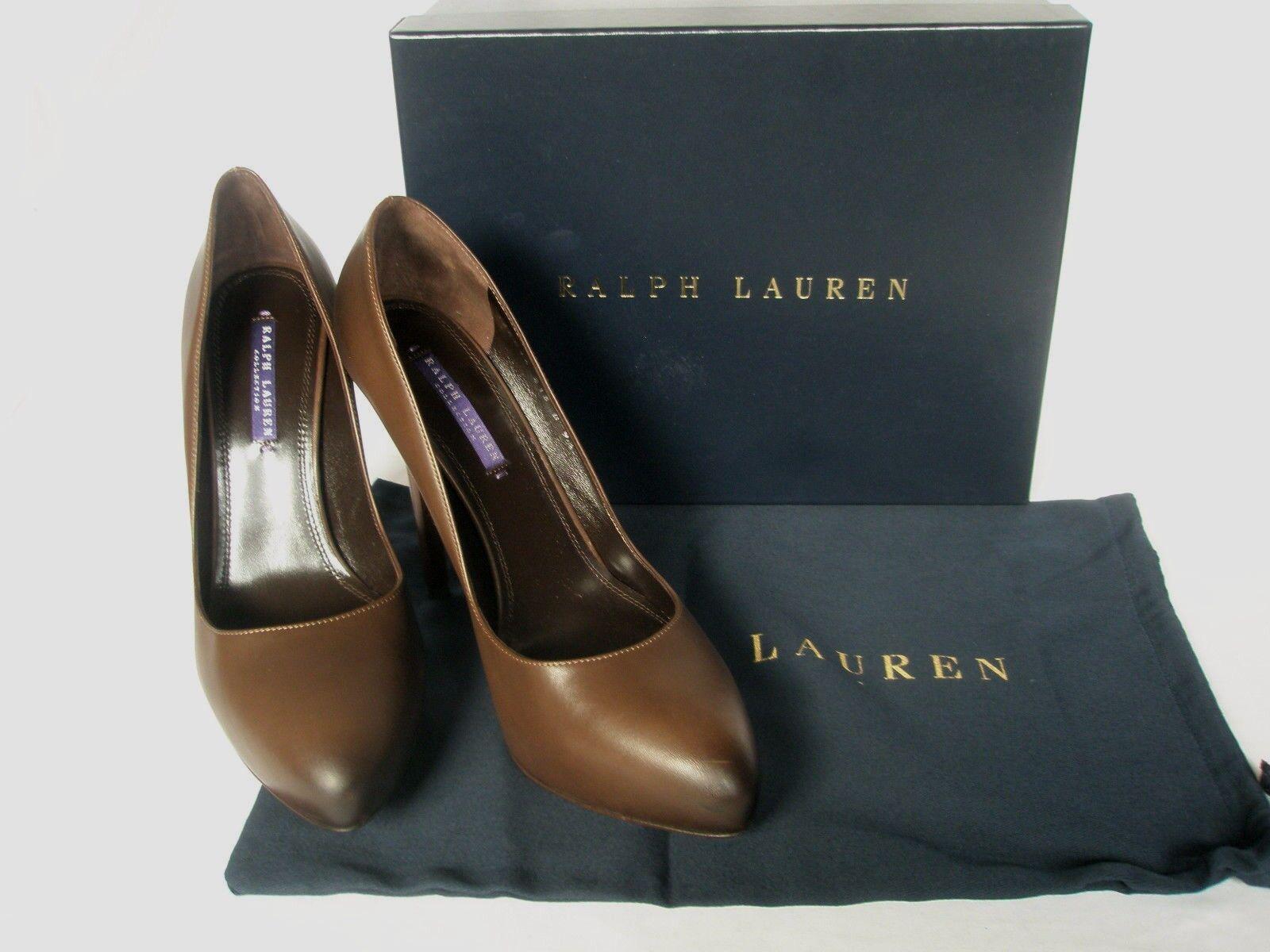 il più recente NUOVO Donna Ralph Lauren Lauren Lauren RA Benita Pelle Marrone. TG EU 37 US 7  acquista marca