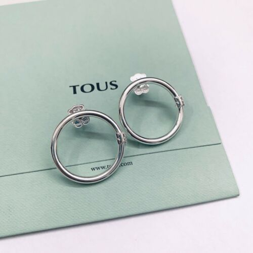 712343560 Original TOUS Silver Big HOLD Earrings