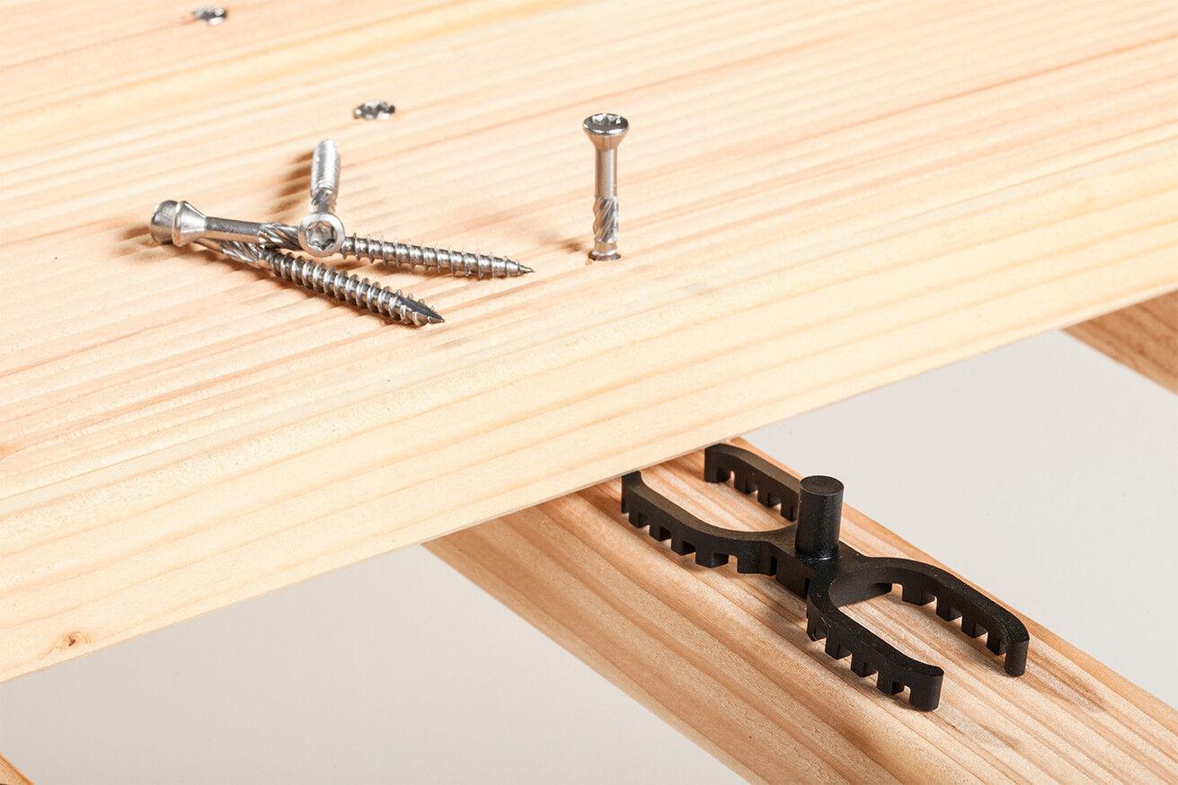 Abstandhalter Terrassendielen neu    4 mm+7 mm inkl.Terrassenschrauben C1oderA2