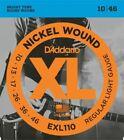 D'Addario XL EXL110 10 to 46 Electric Guitar Strings