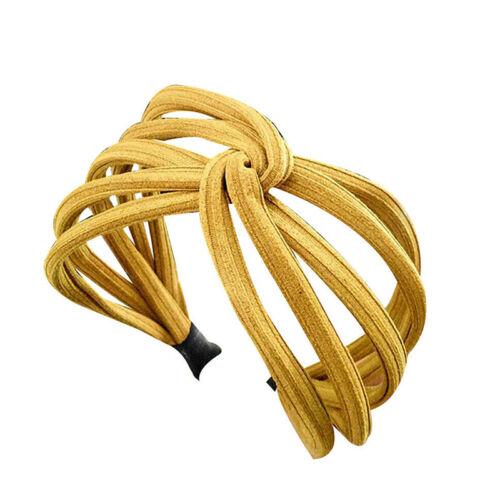 Women Padded Velvet Wide Headband Twist Hairband Hair Band Hoop Pearl L1F