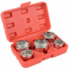5pc 38 Inch Drive Oil Filter Remover Socket Set Universal Wrench Tool Kit Us