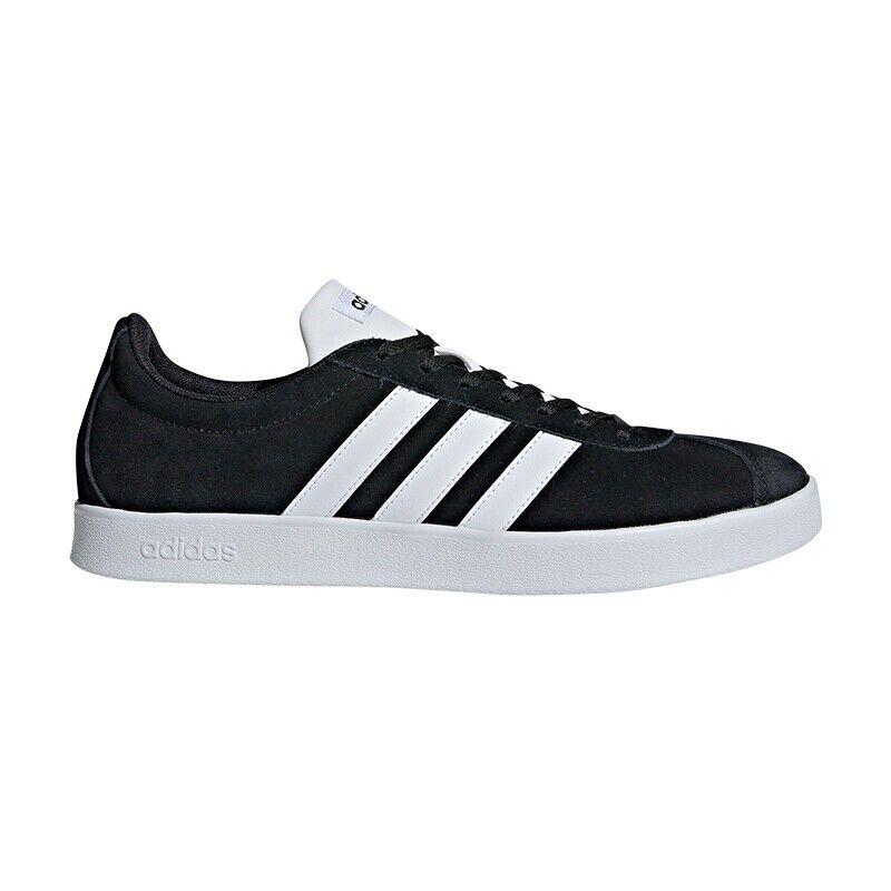 adidas Performance VL Court 2.0 Suede schwarz weiß - Herren Turnschuhe DA9853