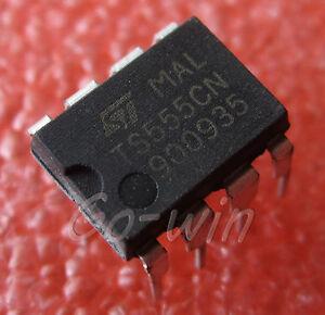 10-Piezas-555-Dip8-St-Ci-Temporizador-de-baja-potencia-Cmos-Nuevo-Ts555cn