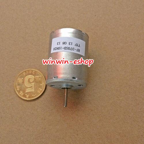 Ronda RF-370SD-10820 Motor de corriente continua DC 12V-24V 3990RPM baja velocidad Cepillo de metales preciosos