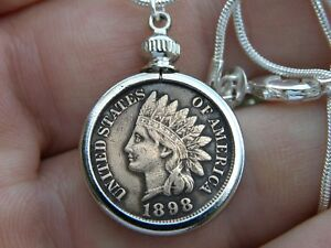 Pendant-Necklace-full-liberty-Indian-penny-coin-nice-gift-motorcycle-biker