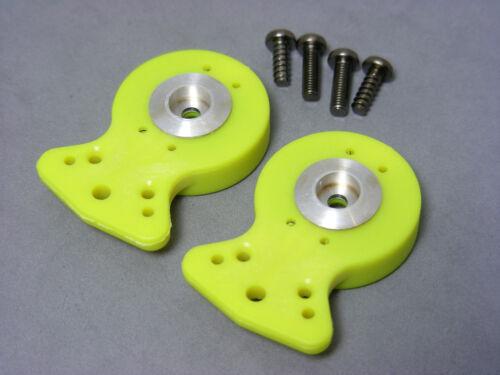 Heavy Duty Airtronics Sanwa JR KO Propo HiTec Fluorescent Yellow Servo Saver Set