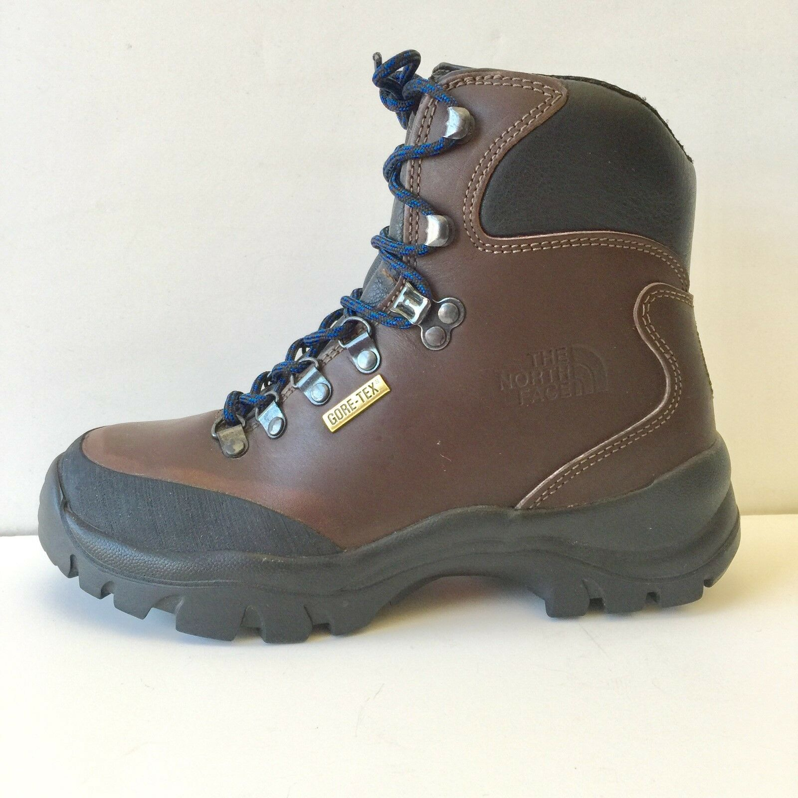 NORTH FACE HIKING BOOT WOMEN 6 GORE-TEX WATERPROOF BROWN LEATHER  INSULATED SNOW  quick answers