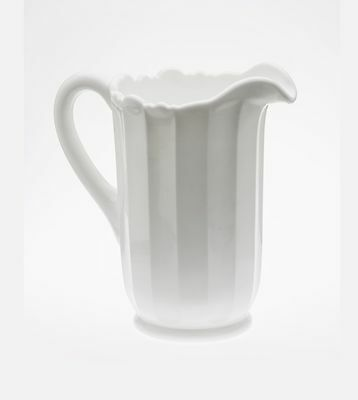 Mosser Glass: Panel Pitcher, White Milk
