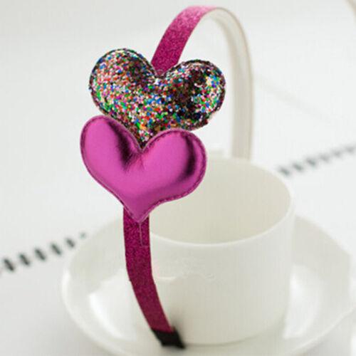 Girls Hair Accessories Glitter Sequins Heart Star Headband Hairband Hair Hoop