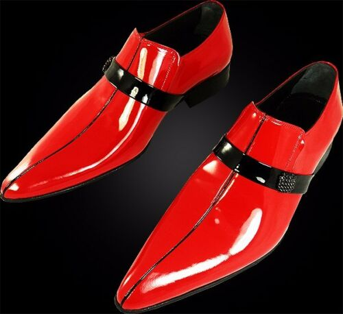 Zapatilla becerro Chelsy 39 original Rojo Piel italiano lateral de diseñador de Broche Sg6g4nRwq