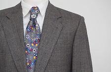 Da Uomo Eduard Dressler Blazer giacca cashmere lana grigio controllato Taglia 40 in