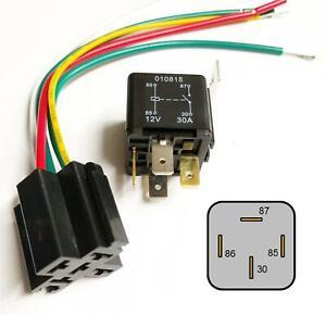 auto bike relay 4 pin 12v 30a & wired base fuse box radio installation  looms | ebay  ebay