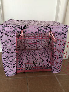 Made-To-Measure-Dog-Crate-cage-Couvre-Taille-S-Scottie-Divers-Designs