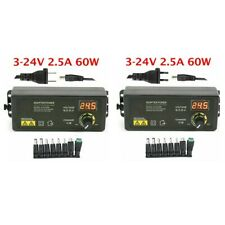Adjustable Voltage 5 A 3 To 24 V Ac Dc Switch Power Supply Adapter Led Display