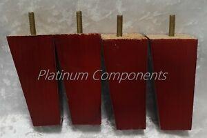 12x neuf marron triangle en bois Meubles jambe avec Free Raccord 120 mm x 50 mm