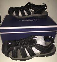 Croft & Barrow Men's Murphy Black Fisherman Sandals Shoes Size 11 Med In Box