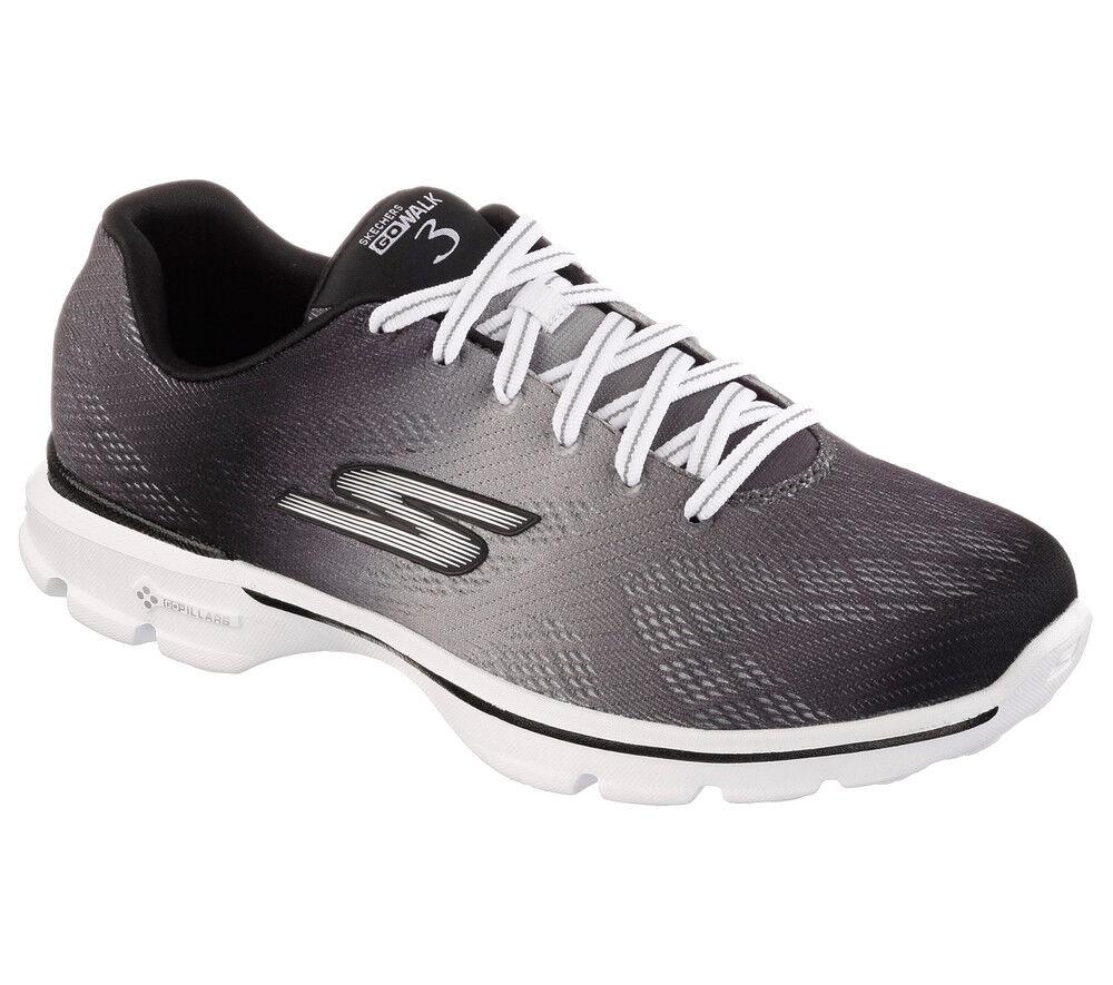 NEW SKECHERS Women Fitness Sneakers Trainers Memory Foam GO WALK 3 - PULSE Black