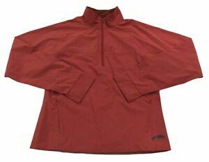 Women's GoLite lightweight Half Zip Rain Jacket Pullover waterproof Large