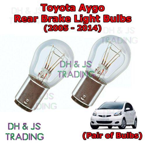 Tail Light Bulb MK1 Toyota Aygo Rear Brake Light Bulbs Pair of Stop 05-14