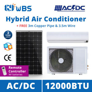 Details about Hybrid AC/DC Solar Air Conditioner 12000BTU On Grid Cooling  Heat Ductless Split