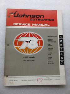 Vintage-1978-Johnson-Outboard-4-HP-Service-Repair-Manual-OMC-JM-7803