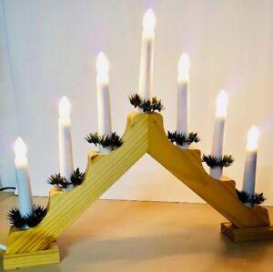Weihnachtsdeko Schwibbogen.Details Zu Schwibbogen Kerzenbrücke Leuchtbrücke Weihnachtsdeko Fenster Deko Schwippbogen